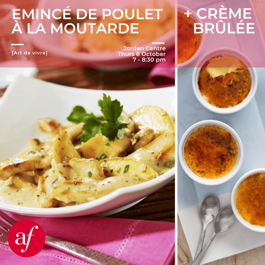 Cooking Workshop - Poulet à la moutarde + Crème brûlée